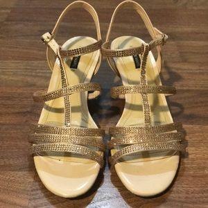 Alex Marie Rose Gold Heels